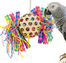 1721 Round Basket Bonka Bird Toys Cage Toy Cages Foraging Chew Shredder Conure