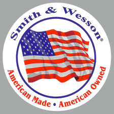 Smith & Wesson Decal American Made S&W Firearms Flag Bumper Sticker NRA LEO DTOM