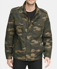 Levi's Men Camouflage Green Jacket (Small)
