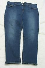 "Levis 512 Blue Jeans Pants Solid Denim Zipper Fly Twenty Four 24 M 42"" x 32"" J49"