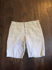 H&M Juniors Sz 33 (11)  Brown Pinstipes Flat Front Casual Bermuda Shorts