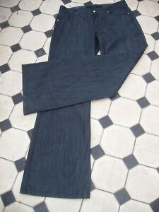 Escada dark denim jeans Back Belt 42 EU  16 UK NEW