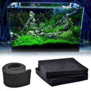 Fish Tank Biochemical Filter Sponge Filtration Foams Aquarium Pad Skimmer Black