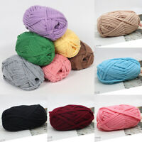 Soft Fabric Yarn For DIY Knitted Carpet Bag Crochet Cloth Yarn Craft Sewing Yarn