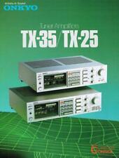 ONKYO Tuner Amplifier Brochure / Catalog  1982,1983 or 1984