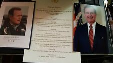 President GEORGE H W BUSH Photo & Funeral Card & Service From Capitol Memorial
