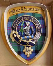 NOS Scottish Clan MacTHOMAS Oak Tartan Plaque Crest Shield