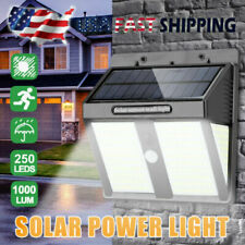New listing 250 Led Solar Power Lights Outdoor Pir Motion Sensor Garden Wall Lamp Waterproof