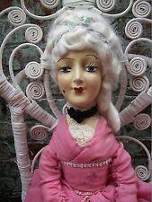 Antia Marie Antoinette 1920s Composition Cloth Boudoir/Bed Doll Antique/ Vintage