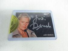 2016 James Bond Classics Judi Dench as M Silver Signature Series Autograph