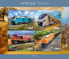 Liberia Trains Stamps 2021 MNH African Trains South African Railways Rail 4v M/S
