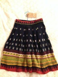New Medium women's Thursday Island fair isle skirt NWT unique thick quality
