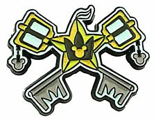 "Kingdom Hearts Crossed Keyblades 1 1/2"" Wide Enamel Metal Pin"