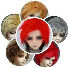 """BJD fabric fur wig to 8-9"""" 22-24CM 1/3 SD DD Multi-color Wool Doll Hair Headgear"""
