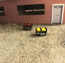 2X 1:76 scale/ 00 Gauge 3d resin Printed portable generators (yellow)