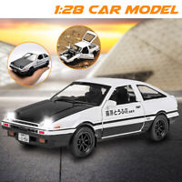 Initial D Metal For Toyota AE86 1:28 Car Model Toy With Sound Light Toy