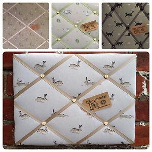 Handmade Pin/memo/Notice/Photo Cork board Sophie Allport Fabrics Med LG XL Choic