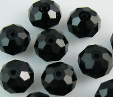 Wholesale beautiful Black 146PCS glass crystal beads 3x4mm