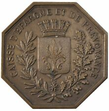 [#57877] France, Savings Bank, Token, Au(55-58), Bronze, Jacqmin #41, 19.14