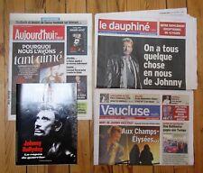 Johnny HALLYDAY Lot  Dauphiné Libéré, Aujourd'hui en France, Vaucluse Matin