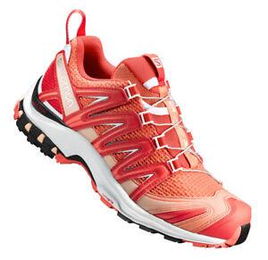 Running Shoes Hiking Salomon Xa Pro 3D W, Ladies, Orange Red, Quicklace™ Lacing