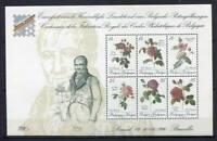 32122) BELGIUM MNH** 1990 Belgica roses s/s
