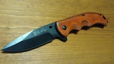 "Elk Ridge 8.25"" Pakkawood ASSISTED OPEN KNIFE Tactical Practical EDC BOB NIB"