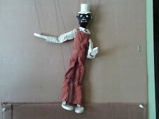 """VINTAGE  MARIONETTE  STRING  PUPPET  13.5 """"  LONG , WITH  THE  ORIGINAL  BOX  !!"""