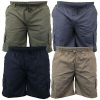 Mens Cargo Combat Knee Length Big King Size Shorts By D555 Fashion Summer New