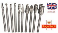10Pc High Speed Steel 3mm Carbide Burrs For Rotary Drill Die Grinder UK SELLER