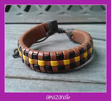 BRAND NEW Leather Vintage Style Bracelet Adjustable Unisex #1