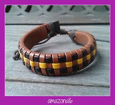 BRAND NEW Leather Vintage Style Bracelet Adjustable Unisex #1