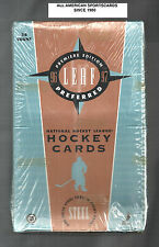 1996-97 LEAF PREFERED HOCKEY FACTORY SEALED BOX 1- SOLID STEEL CARD IN EACH PACK