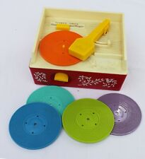 Music Box Record Player Fisher Price avec 5 disques vintage 1971 ref 995