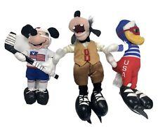 DISNEY STORE BEAN BAG USA OLYMPIC MICKEY DONALD GOOFY PLUSH DOLL FIGURE WINTER