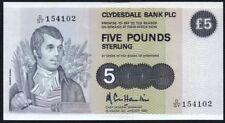 1983 Clydesdale Bank PLC billete de 5 EUR * D/GY 154102 * * FMAM