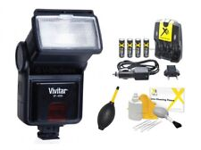 Digital Slave Flash +Batteries +Charger for Nikon 1 S3 D5000 D5100 D5200 D80 D70