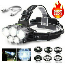 90000LM 5X T6 LED Headlamp Rechargeable Headlight Light Flashlight Head Torch V
