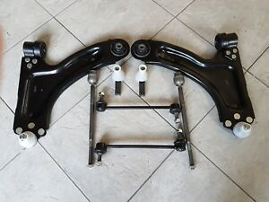 VAUXHALL CORSA C ALL 02-06 WISHBONE ARMS LINKS TRACK ROD ENDS & INNER ROD ENDS