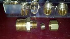 Brass Compression Tube Fit 00006000 ting, 3/8 O.D. Compression x 3/8 N.P.T Male