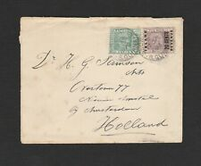 British Guiana 1896 inland revenue franking cover to Holland