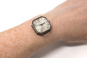 A Nice Antique Art Deco Gents Sterling Silver 925 Manual Wind Wristwatch #33167