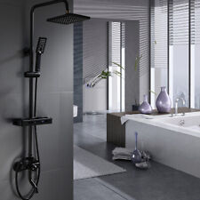 Luxury Black ORB Shower Head Set Rainfall Wall Mounted Headheld Mixer Taps 8In
