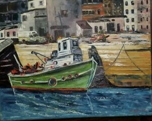 Canadian painting  LISTED artist Quebec painting