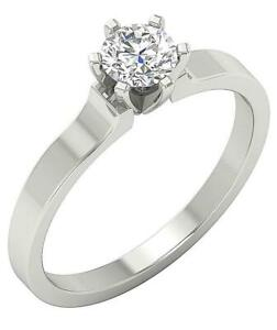 Natural Diamond Solitaire Ring I1 G 0.60Ct 14K Solid Gold 6 Prong Set Appraisal