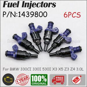 6X Fuel Injectors For 2001-2006 BMW 330CI 330I 530I X3 X5 Z3 Z4 3.0L L6 #1439800