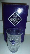 1940s EDINBURGH CRYSTAL Engraved Vase / Tumbler Diamond Cut. 4 inches