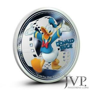 """Niue 2014 2$ Disney Mickey & Friends """"Donald Duck"""" 1 Oz Silver Proof Coin"""