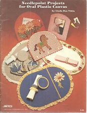 Needlepoint Oval Plastic Canvas Linda Dee Vikla Patterns 1982 Leaflet S83