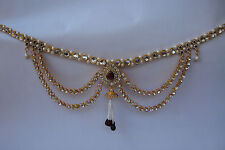 Indian Traditional Kamar Bandh Gold Tone Bridal Jewelry Chain Hip Waist Belt